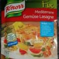 KNORR Fix für mediterrane Gemüse Lasagne 1